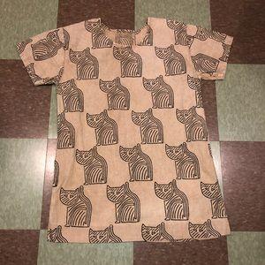 Anthro cat mini shift dress sm md